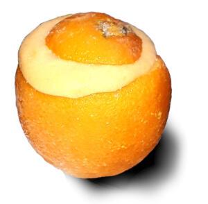 Orange-Eis